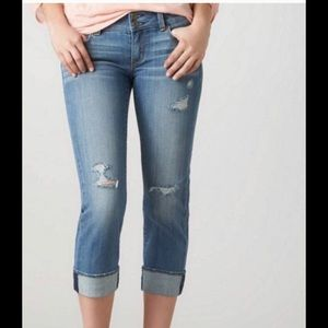 American Eagle Artist Stretch Crop Jeans size 4